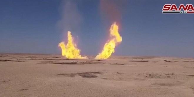 وزارة النفط السورية: تعرض خط غاز في ريف دير الزور لاعتداء (فيديو)