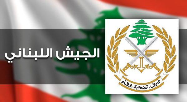 الجيش:توقيف شخصين في منطقتي النبعة والمنية الضنية
