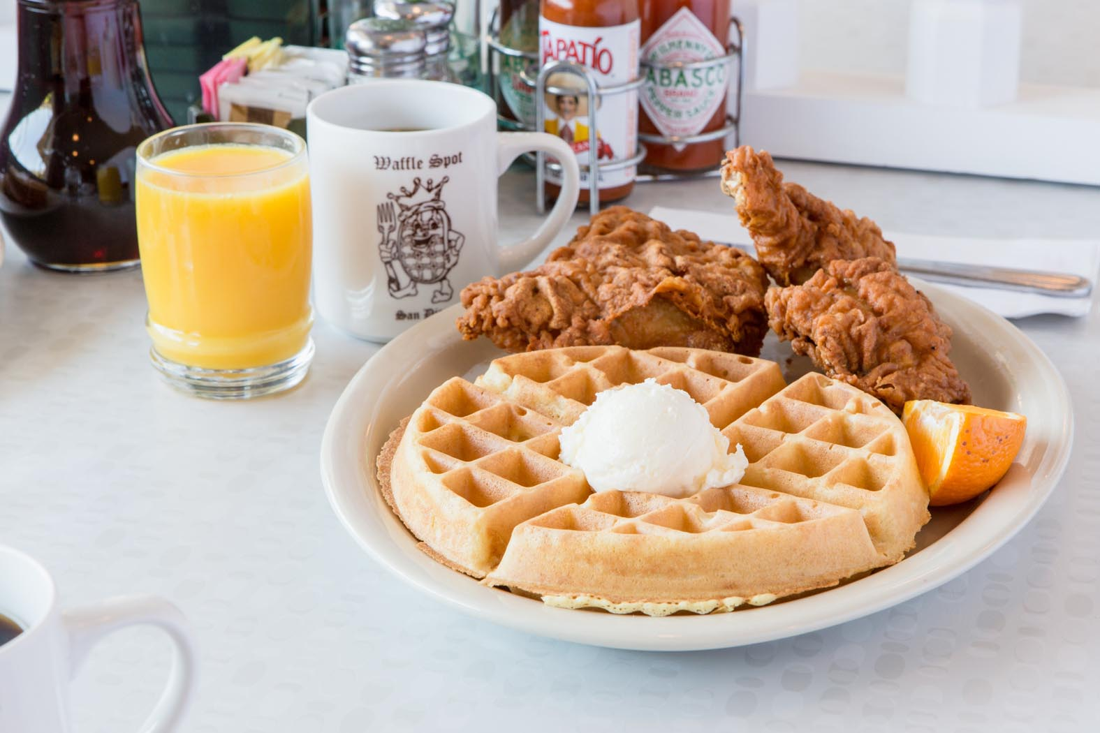 9af3bfd7b The Waffle Spot is located at Kings Inn in Hotel Circle and serves  breakfast daily from 7am-2pm and lunch from 11 AM–2 PM. Ample Free parking  and Free Wi-Fi ...
