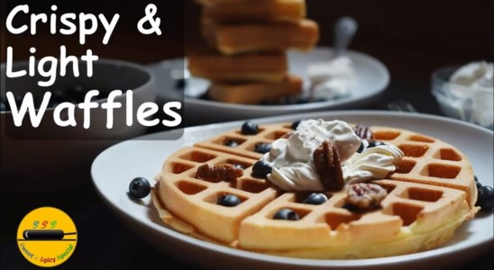 Crispy & Light Waffles Recipe/ Easy Breakfast Recipe /waffles with Bella Rotating Waffle maker