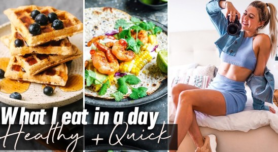 What I Eat in a Day: Healthy, Easy Recipes + Lower Body Workout
