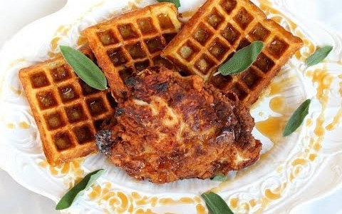 Dinner Recipe: Fried Chicken & Sage Waffles by Everyday Gourmet with Blakely