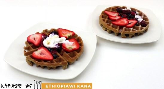 Gluten Free Ethiopian Teff Waffles