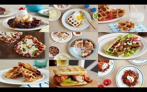Tasty Waffle Iron and Low Calorie Meal Recipes for Breakfast, Lunch, Dinner & Dessert