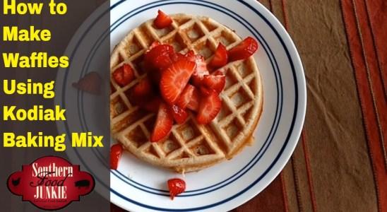 How to make Waffles using Kodiak Baking Mix