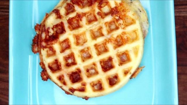 Pizza Chaffle Waffle Recipe