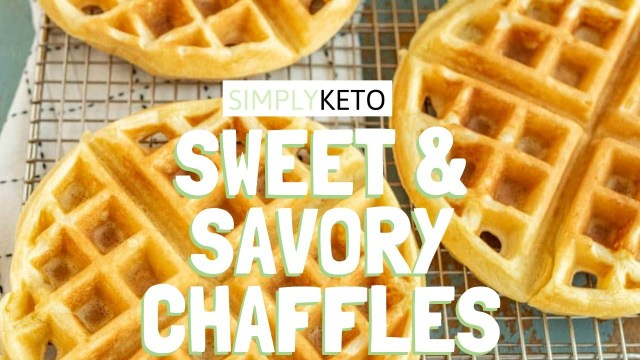 The SWEETEST AND MOST SAVORY CHAFFLES! Keto Breakfast Recipes Waffle Hack!! Easy Step by Step Video!