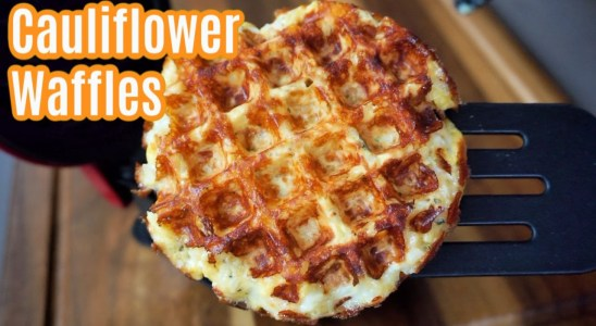 Crispy Cheesy Cauliflower Waffles Recipe | Simple and Delish by Canan