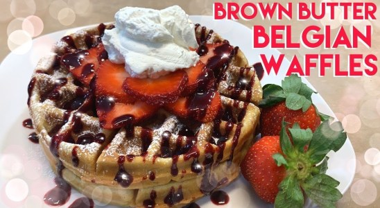 HOW TO MAKE BROWN BUTTER BELGIAN WAFFLES RECIPE