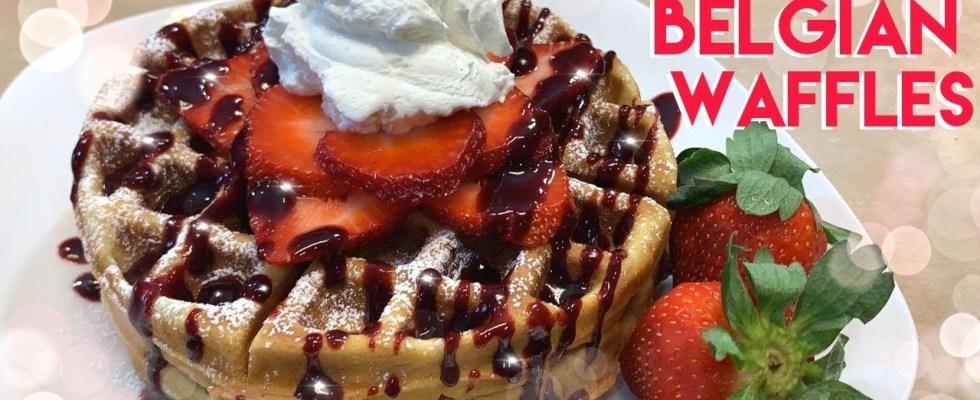HOW TO MAKE BROWN BUTTER BELGIAN WAFFLES RECIPE