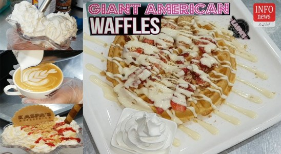 How to Make strawberry waffles _ Waffles recipe _ F6 Islamabad || The INFO Today