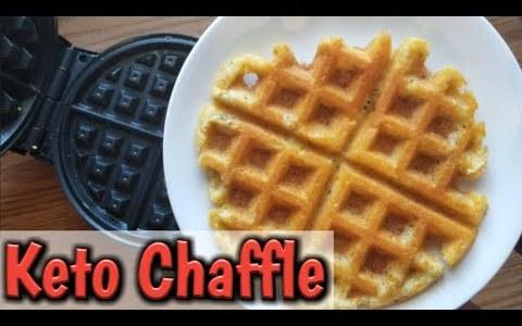 KETO Chaffle Recipe! | How to make a keto waffle