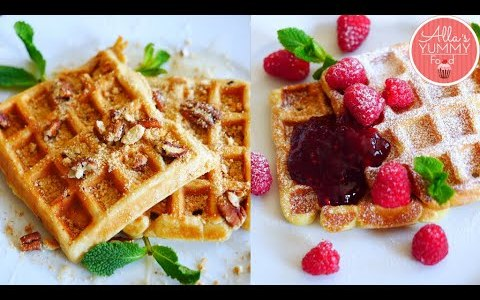 Russian Sour Cream Waffles Recipe | 3 Sweet Waffle Recipes