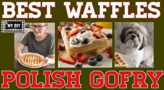 The Best Waffle Recipe crispy with soft interior | POLISH GOFRY