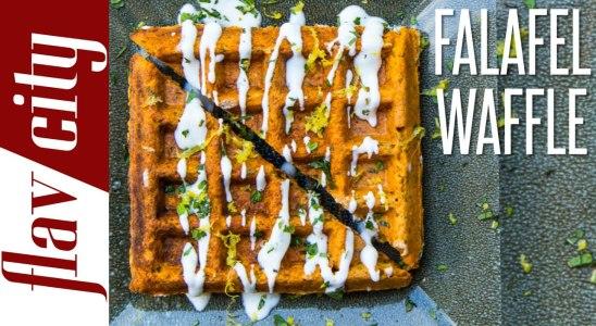 The Falafel Waffle - Epic Food Mashup Recipe