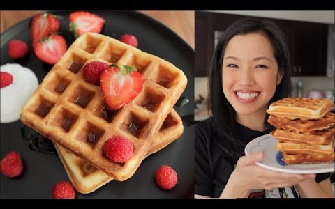 BEST Crispy Waffles I've Ever Had! - Pai's Lockdown Kitchen