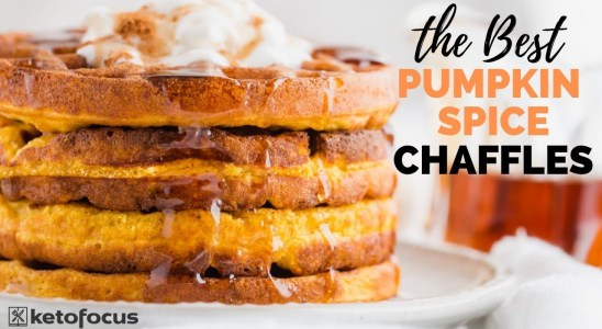 BEST PUMPKIN CHAFFLE RECIPE | How to Make a Pumpkin Spice Keto Waffle