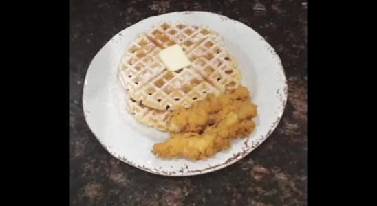 Beignet Waffles (Homemade breakfast beignets)