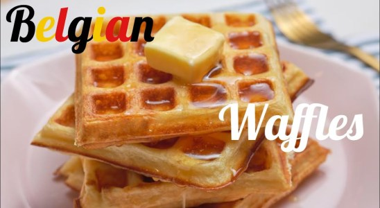 Belgian waffles recipe. -perfect baking