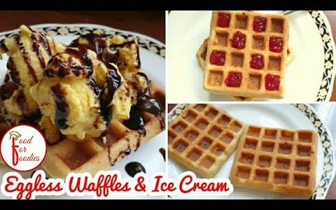 Best Eggless Waffle Recipe | Easy Mango Ice Cream | Special Breakfast recipe | NO CURD | NO EGG