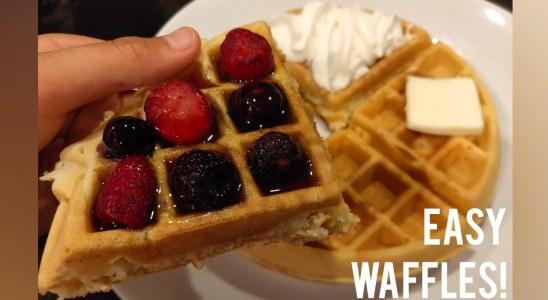 Best Fluffy Belgian Waffles (Easy)