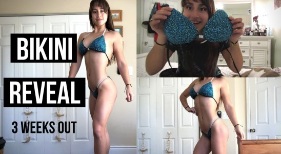 Bikini Reveal & TRY ON | Coconut Protein Waffles Recipe | NPC Bikini Prep 3 Weeks Out