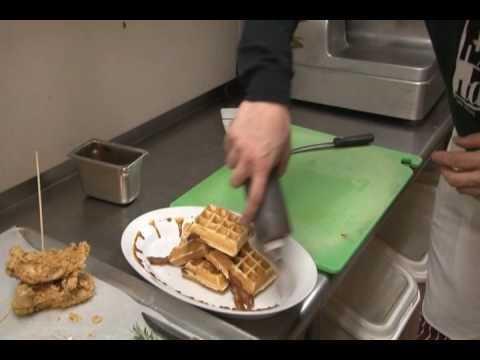Breakfast In Las Vegas-Chicken And Waffles-The Largest Breakfast Ever!