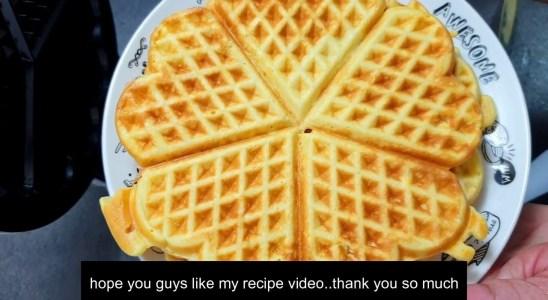 Brown and crispy waffles making|Classic waffles recipe|Plain Waffles