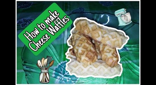 How to make Cheese Waffles - Food vlog #1