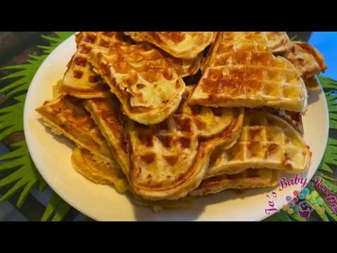 Waffles with yellow cheese | Jo's Baby Friendly Recipes