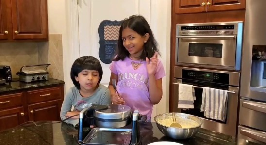 Cooking Breakfast With My Lil Sister - Waffle Recipe
