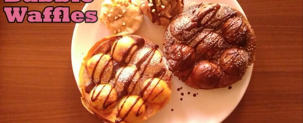 Eggless BUBBLE WAFFLES Recipe At Home under 15mins| No Waffle Maker - No Machine - No Sandwich Maker