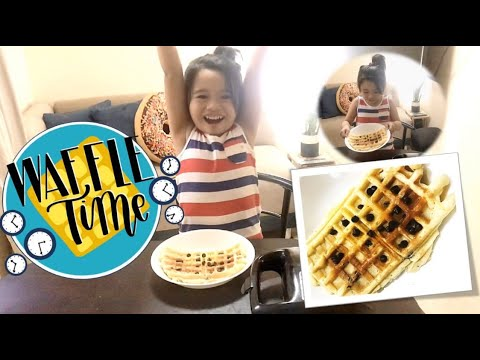 First Vlog! | SAM COOKS: EASY WAFFLE RECIPE FOR KIDS! (with chocolate chips)