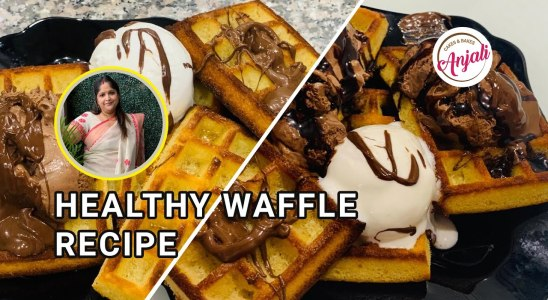 Healthy Waffle Recipe | With oven and waffle maker | Anjali Cakes & Bakes