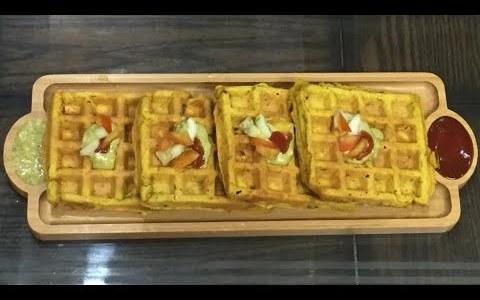 Savoury waffle recipe- Besan waffles / gram flour waffles