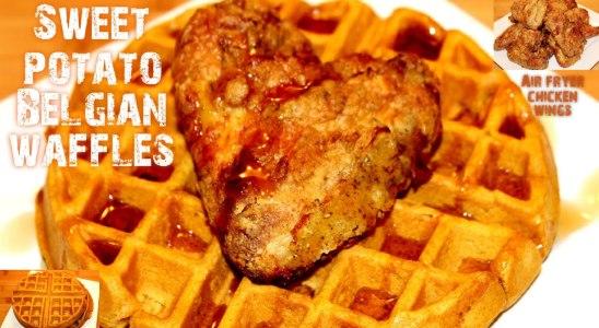 The BEST Sweet Potato Belgian Waffles | Air Fryer Chicken & Waffles | EASY | My Gadget Kitchen |#243