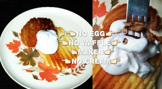 Waffle recipe - in sandwich maker without egg | waffle. Recipe without waffle maker Yummy....