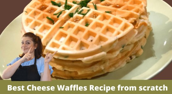 Best Waffle Batter Recipe | Cheese Waffle Recipe | How to make Waffles from scratch | Cheese Waffle