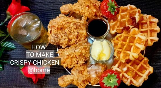 Crispy Fried Chicken and Waffles| Super Crispy Fried Chicken Recipe| simple and easy without egg.
