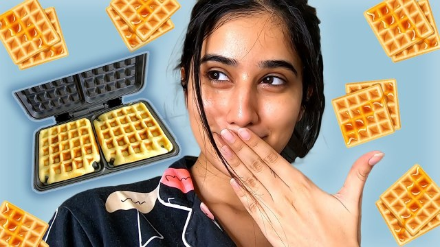 I made waffles!! *it was a MESS*