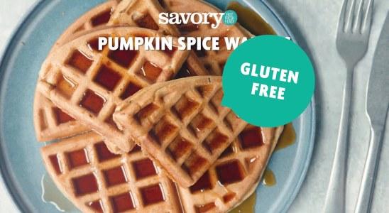 Pumpkin Spice Waffles - Savory