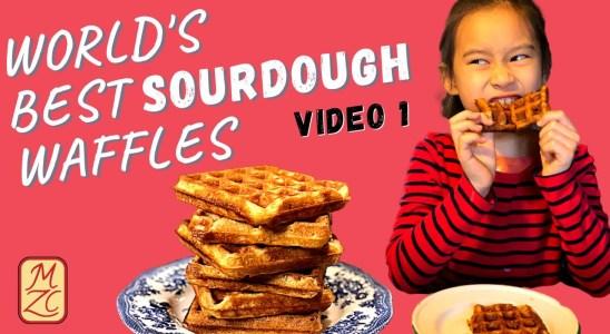 Stupendous Sourdough Waffles (Video 1) - Discard Recipe