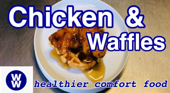 THE BEST CHICKEN AND WAFFLES RECIPE   FAST, EASY, AND HEALTHY  (WW WEIGHT WATCHERS)