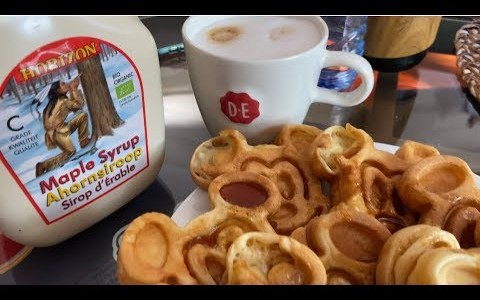 easy recipe: the fastest easiest way to make Mickey Waffles  waffle maker needed