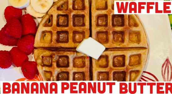 Banana peanut butter waffle/ Gluten free/simple & easy recipe to make/Shanti's 4G Samayal