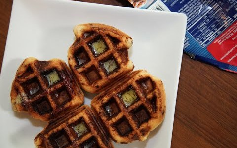 Delicious Breakfast Recipe: Cinnamon Roll Waffles | SAM THE COOKING GUY