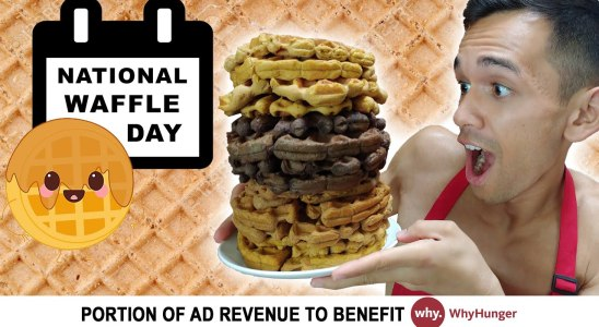 Eating ONLY ANABOLIC WAFFLES for 1 Day | Remington James Recipe | National Waffle Day Celebration