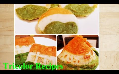 Independence Day Special/ Tricolor Recipes/ Tricolor Topi Dosa,Tricolor Waffles & Tricolor Idli