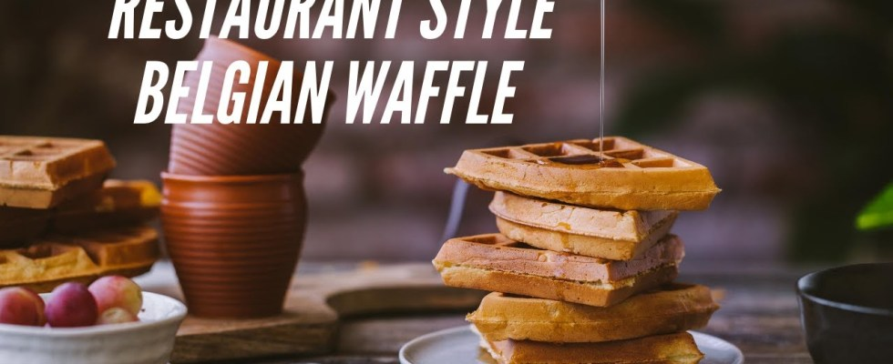 Restaurant Style Belgian Waffles -- HOW TO make CRISPY and LIGHT  waffles recipe -- Homemade & Easy