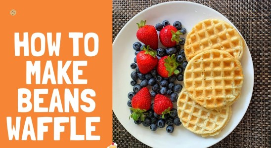 WAFFLE RECIPE | HOW TO MAKE BEANS WAFFLE | GLUTEN FREE WAFFLE RECIPE